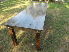 6 Foot Gray/Black Finish Handmade Rustic Farm Table Includes USA Shipping by MattRivera on Etsy https://www.etsy.com/listing/186918092/6-foot-grayblack-finish-handmade-rustic