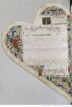 Titre :  Chansonnier cordiforme de Montchenu. RECUEIL de Chansons italiennes et françaises.  Date d'édition :  1470-1480  Rothschild 2973  Folio 35v