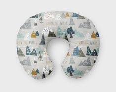 Items similar to Nursing Pillow Cover Adventure Awaits ~ Nursing Pillow ~ Mountain Nursing Pillow Cover ~ Baby Gift ~ Boppy Cover ~ Plum Nursing Pillow Cover on Etsy Unique Baby Gifts, Personalized Baby Gifts, Baby Girl Gifts, Nursing Pillow Cover, Pillow Covers, Boppy Cover, Nursery Accessories, Green Gifts, Baby Shop