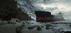 Oil Tanker Wreck Beach 01 by everlite.deviantart.com on @DeviantArt