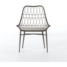 Arman Outdoor Dining Chair In Vintage Metal 574 Liked On Polyvore Featuring Home