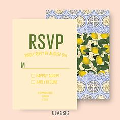 LIMONE RSVP Choice of 3 fonts CL.AM CORRESPONDENCE http://www.cl-am.com