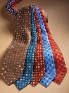 Silk Print Neat Square Ties
