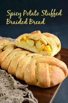how to make stuffed braided bread, recipe explained with step wise pictures..