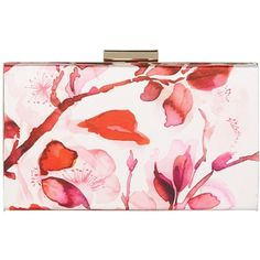 Kaliko Oriental Bloom Clutch Bag, Red Multi ($75) ❤ liked on Polyvore featuring bags, handbags, clutches, special occasion handbags, pink clutches, pink purse, floral handbags and evening box clutch