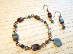 Picasso window bead bracelet and earrings