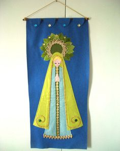 Vintage Mary Felt Christmas Wall Hanging by REdesignkc on Etsy, $18.00
