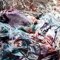 EGO SHATTERING SEARCHING NEW PERCEPTIONS <> Encaustic big size painting available as high quality cards, prints, fantasy pillows and more are available from RedBubble. Original size I am also selling the original painting.