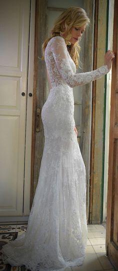 Lace mermaid wedding dress