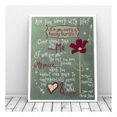 Home decoration is one of the most important elements that help you to define the… Scripture Chalkboard Art, Printable Scripture, Printable Art, Chalkboard Ideas, Matthew 11 28, How He Loves Us, White Chalk, Printing Services, Philippians 4