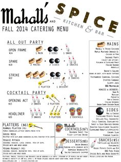 Mahall's partnering with Spice Kitchen + Bar for in-house events