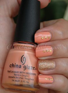 Cute peach and gold