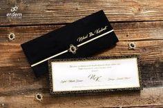Erdem Davetiye Velvet Wedding Invitations, Wedding Invitation Samples, Gold Wedding Invitations, Invitation Paper, Wedding Invitation Design, Wedding Cards, Invite, The Bride, Black Envelopes