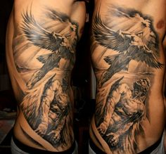 Flying angle portriat tattoo