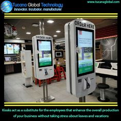 #Kiosks act as a #substitute for the #employees that enhance the overall #production of your #business without taking stress about #leaves and #vacations. #TucanaGlobalTechnology #Manufacturer #HongKong