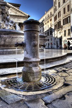 "Drinking water in Roman streets - called ""Nasone"" - Rome, Italy Rome Travel, Italy Travel, The Places Youll Go, Places To See, Rome Florence, Belle Villa, Southern Italy, Visit Italy, Ancient Rome"