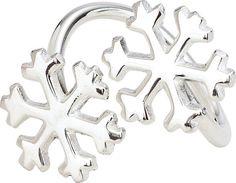 Los copos de nieve de plata anillo de servilleta por TaaraBazaar