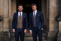 2020 Wedding Suit Trends – Whitfield & Ward – The Best Ideas Tweed Wedding Suits, Rustic Wedding Groomsmen, Blue Suit Wedding, Rustic Wedding Gowns, Groom And Groomsmen, Wedding Men, Wedding Attire, Wedding Trends, Wedding Ideas