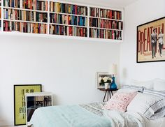 Books should be in every room of the house. An unused space? Put a bookshelf there!