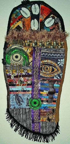 African Mask Wall Art 2 by DianasArtQuilts on Etsy, $195.00