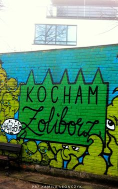 KOCHAM ŻOLIBORZ #polska#warszawa#kocham#zoliborz#mural#streetart#poland Fot.Z. Czopowicz