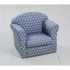 Children's Armchair Grey with White Stars Girl Boy Seating Chair Bedroom Playroo Armchair With Ottoman, Kids Armchair, Grey Armchair, Brown Leather Armchair, Bookshelves In Bedroom, Sofa Seats, Car Seats, Bedroom Chair, Cafe Chairs