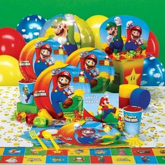 Super Mario Brothers Birthday Party Theme My brother's would love this!