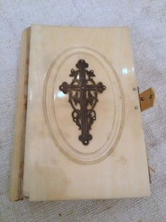 French prayer book w/silver cross-1856 Paris Full of original engravings FleaingFrance Brocante