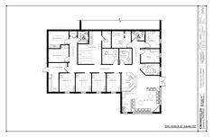 Example of chiropractic office floor plan multi doctor - Semi open floor plan ...