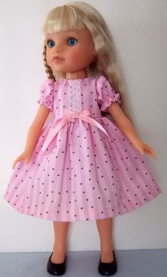 Pretty In Pink Dress for Hearts 4 Hearts Dolls by mothergoosedolls  SOLD