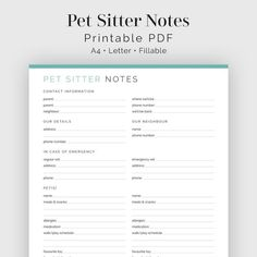 The Effective Pictures We Offer You About Pet Care Printables animals A quality picture can tell you Pet Sitting Business, Dog Walking Business, Emergency Vet, In Case Of Emergency, New Puppy Checklist, Dog Day Afternoon, Travel Planner, Dog Mom, As You Like