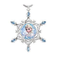 Disney FROZEN Diamond And Crystal Snowflake Pendant Necklace Featuring... ($99) ❤ liked on Polyvore featuring jewelry, diamond heart pendant, fine jewelry, snowflake pendant necklace, diamond pendant necklace and diamond necklace pendant