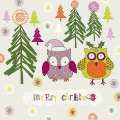 Cartoon christmas owl pattern 02 vector Vector pattern - Free ...