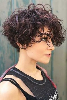 47 Short Curly Cuts for Stylish Ladies - short curly hair - Short Curly Cuts, Short Curly Haircuts, Short Curls, Short Undercut, Short Short Hair, Curly Bob, Undercut Curly Hair, Curly Hair Styles, Curly Hair Cuts