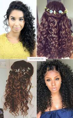 penteados, penteados para cabelos cacheados, cabelo cacheado, cabelo cacheado curto, penteados para festa, penteados para cabelos curtos, penteado cabelo cacheado, penteados faceis, penteado de cabelo, penteados para madrinhas, penteados simples, penteados para cabelos, penteados para madrinhas de casamento, penteados para formatura, penteados para noivas, penteado cabelo curto, penteado cabelo medio, penteados para casamento, penteados bonitos, penteados com cabelo cacheado, penteados para… Cute Curly Hairstyles, Afro Hairstyles, Wedding Hairstyles, Curly Hair Styles, Natural Hair Styles, Beauty Makeup, Hair Makeup, Hair Beauty, Too Faced Makeup