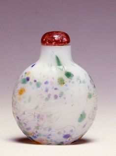 An opaque white glass snuff bottle, 18th Century. | Burghley Collections