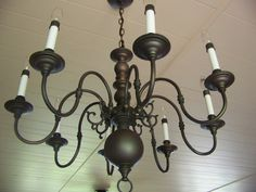 Chandelier makeover... I am going to do this one day!