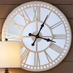 Cream Mirror Clock