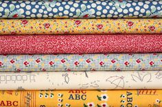 School Days fat quarter bundle--6 pieces---1-1/2 yards total--American Jane for Moda Fabrics. $15.75, via Etsy.    Pin It To Win It Comp  Please repin for me to win, I need 15 pins in 1 hr 20 mins :o)