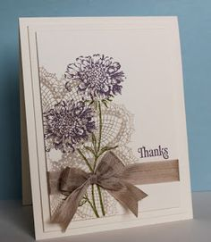 Just Julie B's Stampin' Space: Field Flowers Thanks
