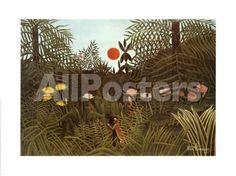 Virgin Forest Landscapes Art Print - 80 x 60 cm