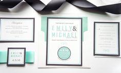 Mint Wedding Invitation - DEPOSIT