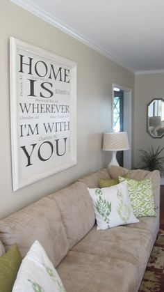 Home Is Wherever I'm With You sign (DIY sign, order decals and put it on a painted canvas/frame)