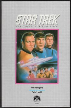 """Star Trek The Menagerie (1966/1978): VHS Videotape, Paramount Home Video, the first of the 1978 """"Star Trek The Collector's Edition"""" releases in the CBS Video Library series, 4268, Played once - tape looks new/as issued, the deluxe, simulated """"silver book"""" case is in NM condition, approximately 103 minutes, Color. This is the original pilot for the TV series written by Gene Roddenberry. $8"""