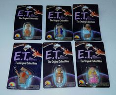 1982 E.T. The Extra Terrestrial Collectibles Toy Figure Set Of 6 #Ljn