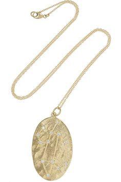 Brooke Gregson | Leo 14-karat gold diamond necklace | NET-A-PORTER.COM