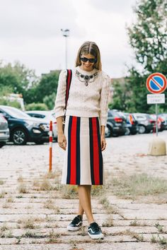 Street Style Milan Fashion Week, septiembre de 2016 © Diego Anciano