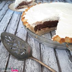 Gluten-Free Vegan Nutella Cream Pie {also Paleo & Refined Sugar-Free}
