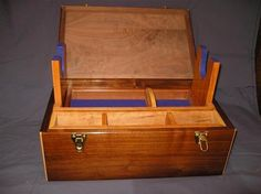 gun cleaning box. i need to take the time and make one like this. my gun cleaning stuff is always scattered