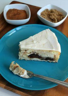 Cinnamon Bun Cheesecake   A Sweet Baker